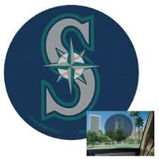 Seattle Mariners Perforated 8 Decal Film Auto Window Shade Vinyl Mlb Baseball Ebay