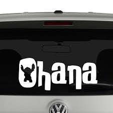Ohana Stitch Means Family Vinyl Decal Sticker