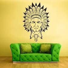 Wall Vinyl Decal Sticker Bedroom Kids Decal Injun Indian Redskin Red M Stickersforlife