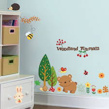 Woodland Animals Wall Stickers For Kids Room Decorations Cartoon Mural Art Zoo Children Home Decals Posters 1221 5 0 Sticker For Kids Room Wall Stickers For Kidsanimal Wall Stickers Aliexpress