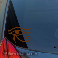 Eye Of Horus Egyptian Hieroglyphic Vinyl Sticker Vinyl Mayhem