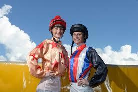Jockeys Cassie and Priscilla Schmidt at the Grafton Racecourse. Photo ... |  Buy Photos Online | South Burnett Times