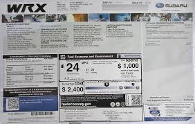 2015 Monroney Window Stickers Subaru Brz Xv Crosstrek Crosstrek Special Edition Hybrid Outback Legacy Impreza Wrx Sti Forester