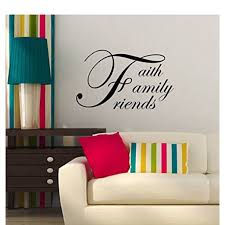 Faith Family Friends Cursive Wall Letters Vinyl Sticker Decals Black 23 X 14 Walmart Com Walmart Com