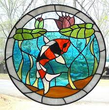 stained glass koi pattern glasses blog