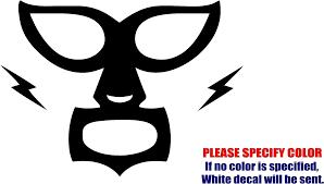 Vinyl Decal Sticker Mexican Wrestler Mask Window Jdm Fun Sticker 12 7cm Stickers Aliexpress
