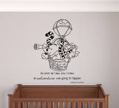 Winnie The Pooh Hot Air Balloon Adventure Wall Decal