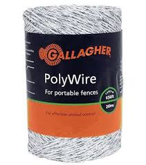 Gallagher Electric Fence Polywire Ultra White 1 16 In X 656 Ft Wilco Farm Stores