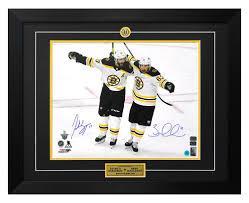 Dual Signed Boston Bruins Hockey ...