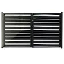 Stratco Quick Screen 3 33 Ft X 5 91 Ft X 0 20 Ft Aluminum Gate In Black For Fence Panels Sc 10660 The Home Depot