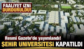 Resmi Gazete | Son dakika: İstanbul Şehir Üniversitesi'nin ...