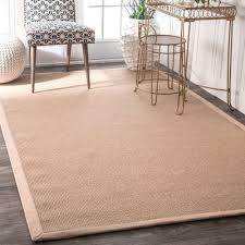 cotton border sand area rug rug size