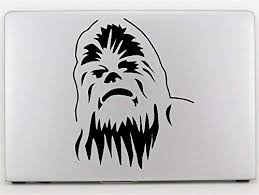 Amazon Com Star Wars Chewbacca Vinyl Decal Sticker For Car Window Laptop Wall Room Chewbacca Head 5 5 Inches Black Arts Crafts Sewing