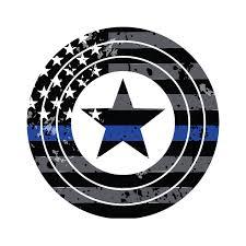 Thin Blue Captain America Superhero Vehicle Decal Vinyl Etsy
