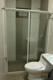 shower enclosure on aluminum powder