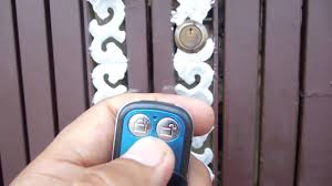 Electronic Lock With Remote Working On Gate Live Working Video Demonstration Youtube