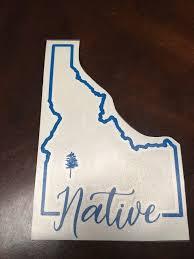 Idaho Native Car Decal Etsy