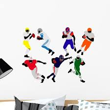 American Football Players Silhouette Wall Decal By Wallmonkeys Peel And Stick Graphic 24 In W X 18 In H Wm71417 Walmart Com Walmart Com
