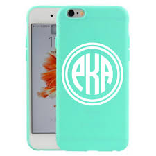 Monogrammed Smart Phone Case Decal Belle Ten