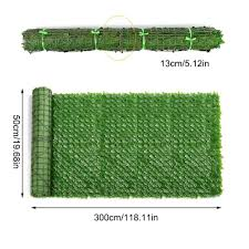 50x300cm Artificial Privacy Fence Screen Faux Ivy Leaf Screening Hedge For Outdoor Indoor Decor Garden Backyard Patio Decoration Fencing Trellis Gates Aliexpress