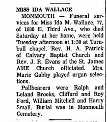 Possible Ida Wallace Funeral Notice - Newspapers.com