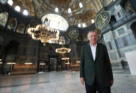 Cumhurbaşkanı Recep Tayyip Erdoğan, Ayasofya Camii'nde - GÜNDEM ...