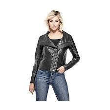noto faux leather moto jacket