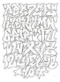graffiti alphabet letters a z styles