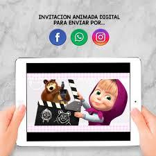 Invitacion Animada Digital Cumpleanos Masha Y El Oso 450 00
