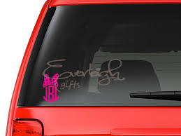 Minnie Bow Monogram Vinyl Decal Sold By Everleigh Gifts On Storenvy
