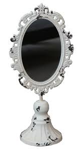 tabletop antique white miror by chic