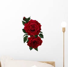 Red Red Rose Wall Decal Wallmonkeys Com