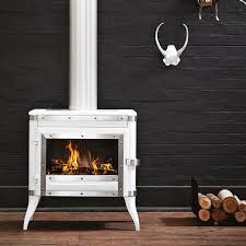 retro enamelled cast iron fireplace by