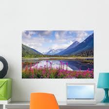 Alaska Mountain Range And Wall Decal Wallmonkeys Com
