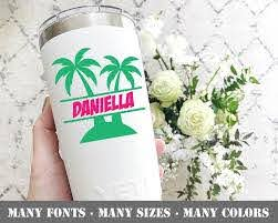 Palm Tree Decal For Tumbler Palm Tree Yeti Sticker Palm Tree Etsy Tree Decals Yeti Stickers Decals For Yeti Cups
