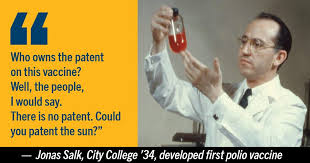 Jonas Salk was one of the leading... - The City University of New ...