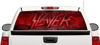 Product Slayer Trash Metal Rear Window Decal Sticker Pick Up Truck Suv Car 3