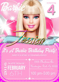 Barbie Birthday Invitation Barbie Party Invitation Printable