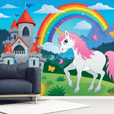 Fairytale Unicorn Mural Wallsauce Us