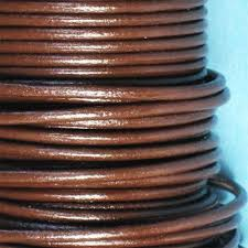 round leather cord 2mm brown 1m