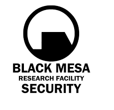 Half Life Fan Art Vinyl Decal Black Mesa Research Facility Security Tipperary Lane