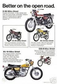 1971 yamaha motorcycle brochure xs 1