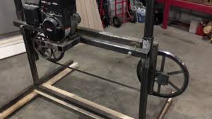 how to build a simple bandsaw mill 1