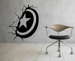 Captain America Shield Wall Vinyl Decal Comics Super Hero Etsy Vinyl Wall Decals Captain America Shield Wall Stickers Marvel
