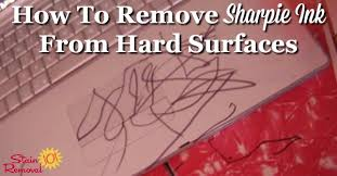 how to remove sharpie ink from hard