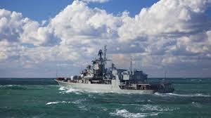 navy ship sea clouds 5120x2880 uhd