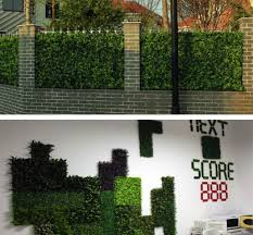 11 Sq Ft 4 Panels Artificial Boxwood Hedge Small Leaves Faux Foliage Green Garden Wall Mat Efavormart