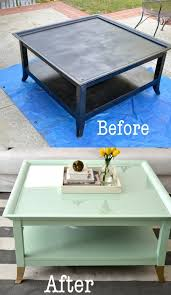 mint coffee table with gold feet a