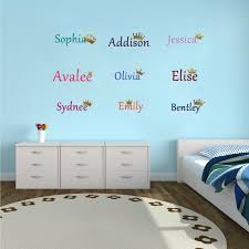 Name Decal Personalized Kids Door Sign Vinyl Wall Decal Kids Bedroom Decal Sticker Princess Crown Removable Art Mural Hj319 Wall Stickers Aliexpress
