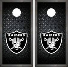 Oakland Raiders Cornhole Wrap Nfl Luxury Game Board Skin Set Vinyl Decal Co104 Ebay